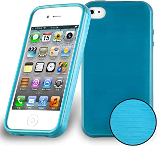 Cadorabo Case Works with Apple iPhone 4 / iPhone 4S in Turquoise – Shockproof and Scratch Resistant TPU Silicone Cover – Ultra Slim Protective Gel Shell Bumper Back Skin