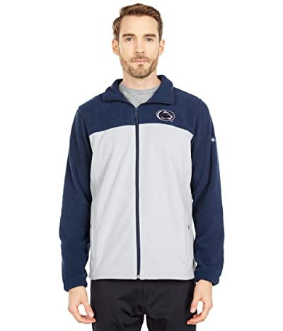 Columbia College Penn State Nittany Lions Flankertm III Fleece Jacket (Collegiate Navy/Columbia Grey) Men