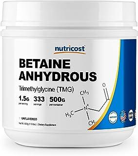 Nutricost Betaine Anhydrous Trimethylglycine (TMG) Powder 500 Grams