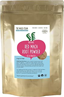 The Maca Team Gelatinized Red Maca Powder, 100% Organic, Fair Trade, GMO-Free Maca Powder, 2.2 Pounds, 111 Servings