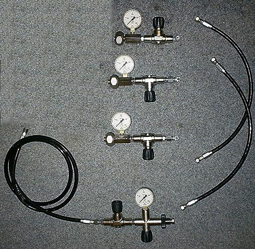 HTD Oxygène Füllamatur à remplir en Cascade 3Bouteilles d'oxygène