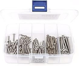 iExcell 100 Pcs M3 x 20mm / 25mm / 30mm / 35mm / 40mm Stainless Steel 304 Hex Socket Flat Head Cap Screws Kit