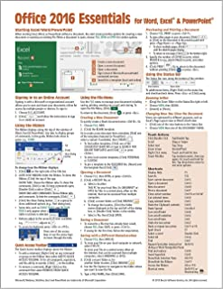 Microsoft Office 2016 Essentials Quick Reference Guide - Windows Version (Cheat Sheet of Instructions, Tips & Shortcuts - Laminated Card)