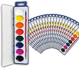 ست های رنگی آبرنگ نلیبلو مجموعه ای فله ای 24 تایی با 8 رنگ قابل شستشو و مسواک برای کودکان و بزرگسالان - مناسب برای جشن های جشن تولد ، فعالیت های کلاس ، کلاس های هنری