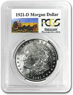1921 D Stage Coach Morgan Dollar BU PCGS $1 Brilliant Uncirculated PCGS