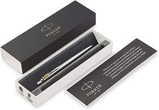 Parker Jotter Ballpoint Pen, Stainless Steel with Chrome Trim, Medium Point, Blue Ink, Gift Box