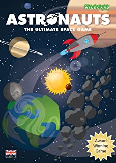 Wildcard Games Astronauts – The Ultimate Space Game for Kids Teenagers and Adults as You Travel The Solar System Exploring Planets and Moons - Fun and Educational Astronomy Gift