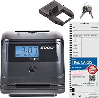 Pyramid 5000 Auto Totaling Time Clock, 100 Employees - Made in USA