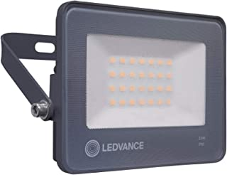 LEDVANCE Outdoor/Indoor ECO LED Flood Floodlight Luminaires 20W, Car Park/Security/Architectural, Light Weight, Slim Desig...