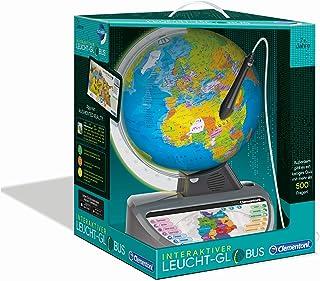 Clementoni 59183 Galileo Science – Interaktiver Leucht-Globus, sprechende Weltkugel mit Fragen & Fakten, Spielzeug für Kin...