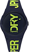 Superdry Urban Quartz Watch with Silicone Strap, Blue, 18 (Model: SYG189UN)
