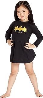 DC Comics 'Batman Logo Star' Halloween Costume Pajama Nightgown Sleepshirt, Black, 5T