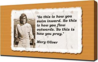 Mary Oliver Quotes 2 - Canvas Art Print
