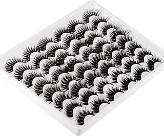 False Eyelashes 24 Pairs Fluffy Long 3D Natural Fake Eyelashes Wholesale 4 Styles Lashes Bulk Dramatic Thick Wispy Crossed...