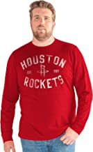 G-III Sports NBA Houston Rockets Big Man Bank Shot Long Sleeve Top, 3X, Red