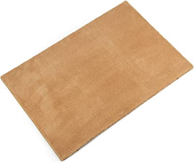 "Jorviz Carpet Stair Treads Landing Mat Tape Free Self-Adhesive Non Slip Skid Resistant Indoor Doormat Area Rug Floor Mat for Bathroom, Front, Inside and Entrance Washable Off Khaki 24"" X 36"""
