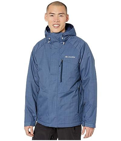 Columbia Chuterunnertm II Jacket (Dark Mountain Heather/Collegiate Navy/Azul Zips) Men