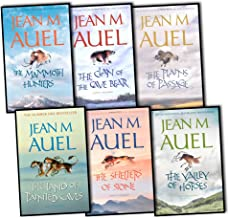 Jean M Auel 6 Books Earths Children Collection Pack Set (The Valley of Horses , The Clan of the Cave Bear, The Mammoth Hunters, The Plains of Passage, The Shelters of Stone and the land of Painted caves)