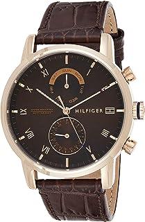 Tommy Hilfiger Reloj Analógico para Hombre de Cuarzo con Correa en Cuero 1710400