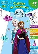Cahier de vacances la Reine des Neiges du CP au CE1 (Disney)