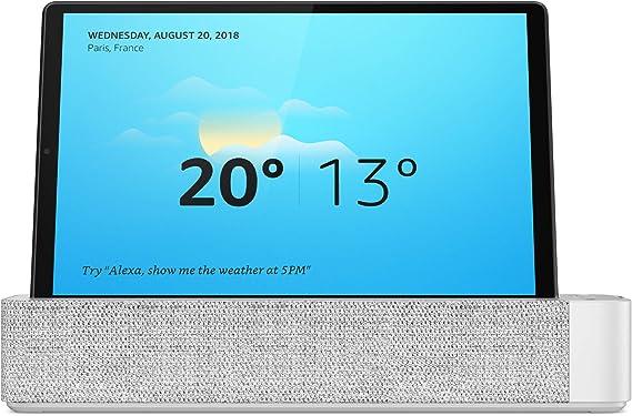 Lenovo Smart Tab M10 HD (2nd Gen) - Tablet 10.1'' HD, 1280x800 (MediaTek Helio P22T, 4GB Ram, 64GB eMMC, IMG GE8320 GPU, WiFi+Bluetooth, Android 10) con Alexa Smart Dock, Gris