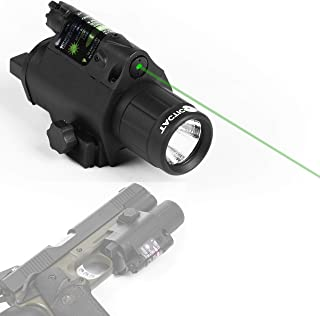Tacticon Armament Red or Green Laser Flashlight with Picatinny Rail Mount and Tail Switch