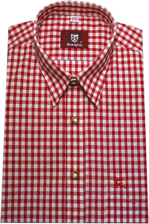 Trend-Promotion Austria Camisa Rojo Blanco A Cuadros y cómodo Orbis 0071 M hasta 6 xl
