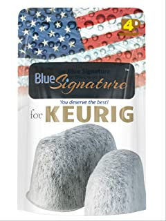 Keurig universal fit Blue Signature 4 keurig coffee maker accessories, Not for Cuisinart- compatible keurig filter 2.0 water filter (4)