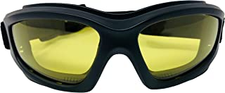 Yellow Motorcycle Riding Goggles: Night Vision Nighttime Riding Goggles