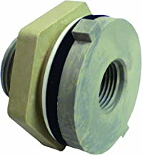 Watts PL-1872 3/4-Inch Nylon with Neo Washer Bulkhead Union Pipe Fitting