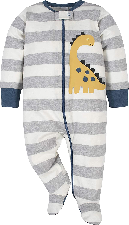 Gerber Baby Boys' 4 Pack Sleep N' Play Footie: Clothing