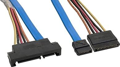 Amphenol CS-SATDRIVEX2-000.5 Serial ATA SATA Drive Connector Extension Cable, 0.5 m, 1.6', Blue