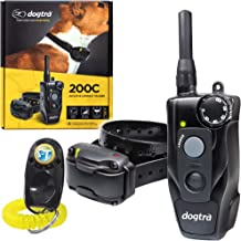 Dogtra 200C Remote Training Collar - 1/2 Mile Range, Waterproof, Rechargeable, Static Correction, Vibration - Includes PetsTEK Dog Training Clicker