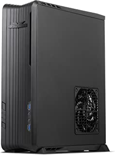 SilverStone Technology Raven Z Mini-ITX/DTX Small Form Factor SFX Computer Case with PCI-E Riser and Custom Low Profile Fans, Black (RVZ01B)