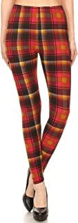 Women's Colorful Novelty Pattern Printed Leggings for Regular Plus 3 X 5X - Buttery Soft Fabric