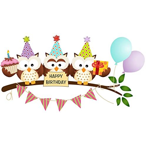 Cool Owl Cake Topper Amazon Com Personalised Birthday Cards Sponlily Jamesorg