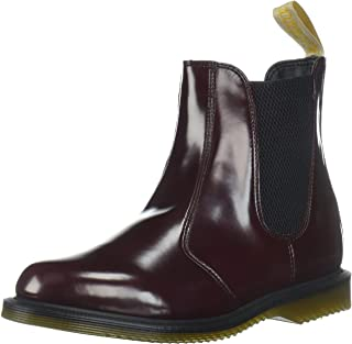 Dr. Martens Women's Vegan Flora Cherry Ankle Boot, Red