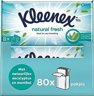 Kleenex Natural Fresh zakdoekjes - 80 zakdoekjes - Voordeelverpakking