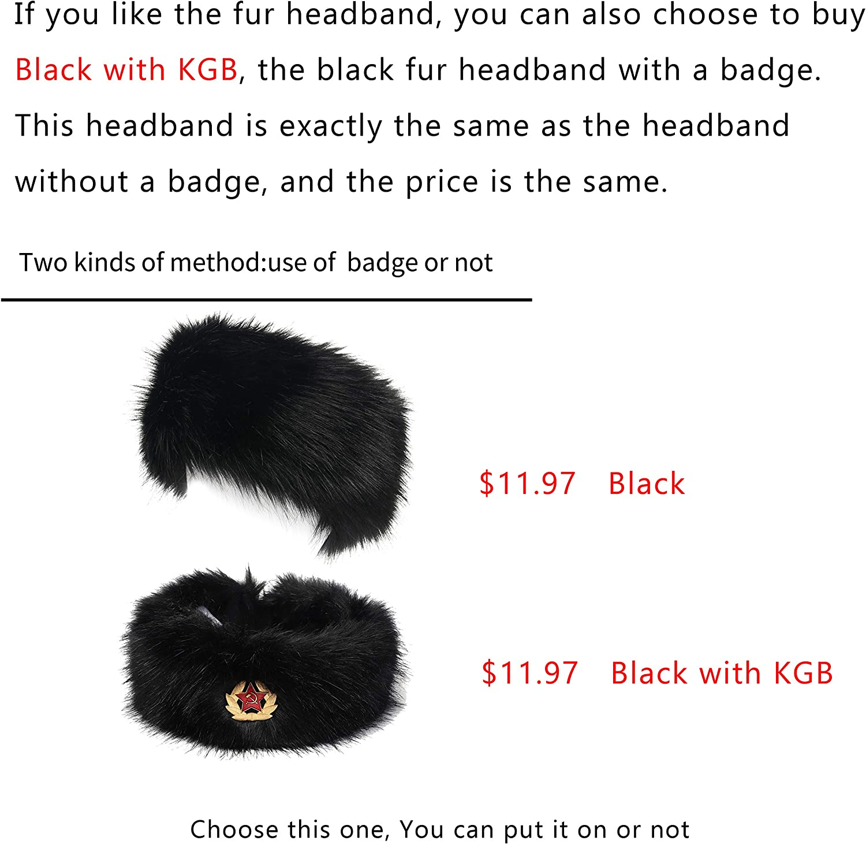 La Carrie Faux Fur Headband with Stretch Womens Winter Earwarmer Earmuff