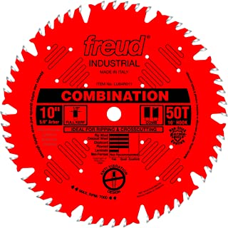 Freud 10 In. 50 Tooth Combination Saw Blade with 5/8 In. Arbor (LU84R011)