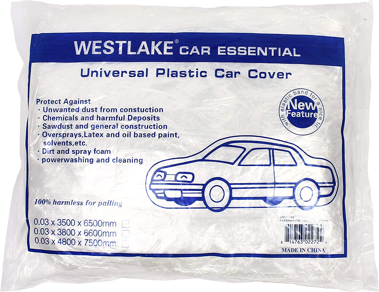 West Lake Car Essential 5% OFF Universal Clear Charlotte Mall Disposable C Plastic