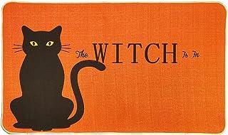 Black Cat The Witch is in Halloween Door Mat,18 x 30 Inch Halloween Non-Skid Floor Mat Switch Mat Indoor Outdoor Home Gard...