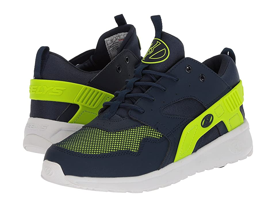 Heelys Force (Little Kid/Big Kid/Adult) (Navy/Neon Yellow) Boys Shoes