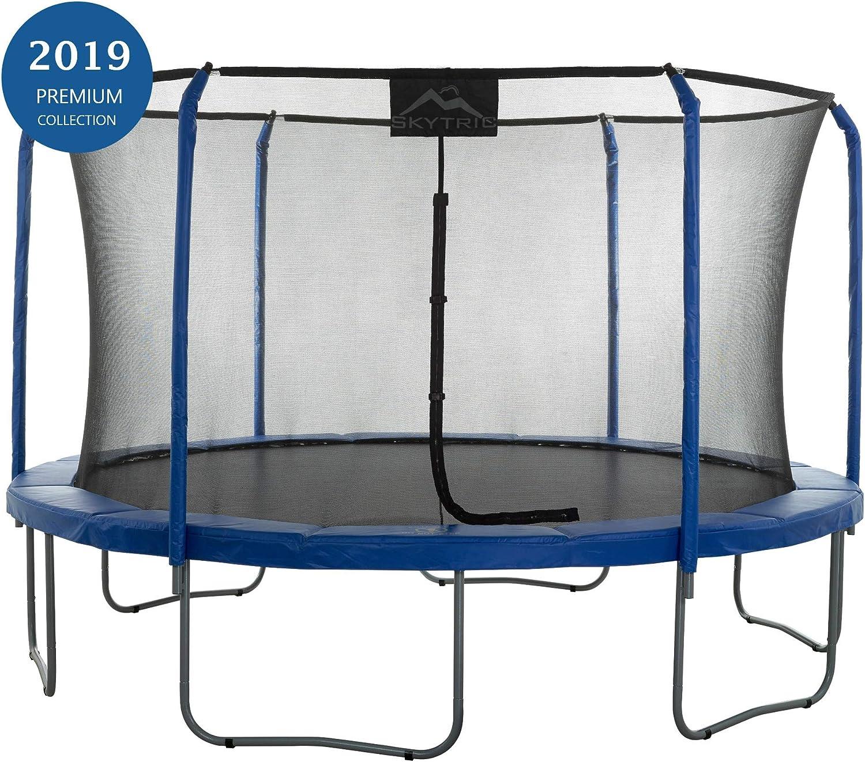 SKYTRICK 3.96m Trampolin mit den Top Ring Einzunungs - System ausgestattet mit der  EINFACHES MONTIEREN FEATURE