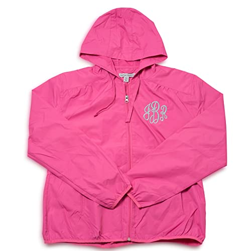 fe7ec4ca0 Embellish Ladies Custom Personalized Monogrammed Hooded Rain Jacket