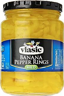 Vlasic Banana Pepper Rings, Mild, Keto Friendly, 12 Ounce