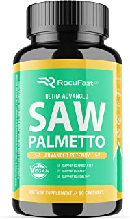 Rocufast Saw Palmetto Prostate Supplement for Prostate Health and Frequent Urination Support 500mg Natural DHT Blocker May...