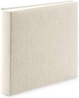 Goldbuch Summertime Trend 2 31605-Álbum (100 páginas con separadores de pergamino y Cubierta de Lino, para hasta 600 Fotos), Papel, Beige, 30 x 31 cm
