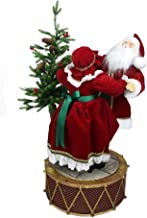 Northlight Musical/LED Lighted Rotating Santa and Mrs. Claus Christmas Decor, 32