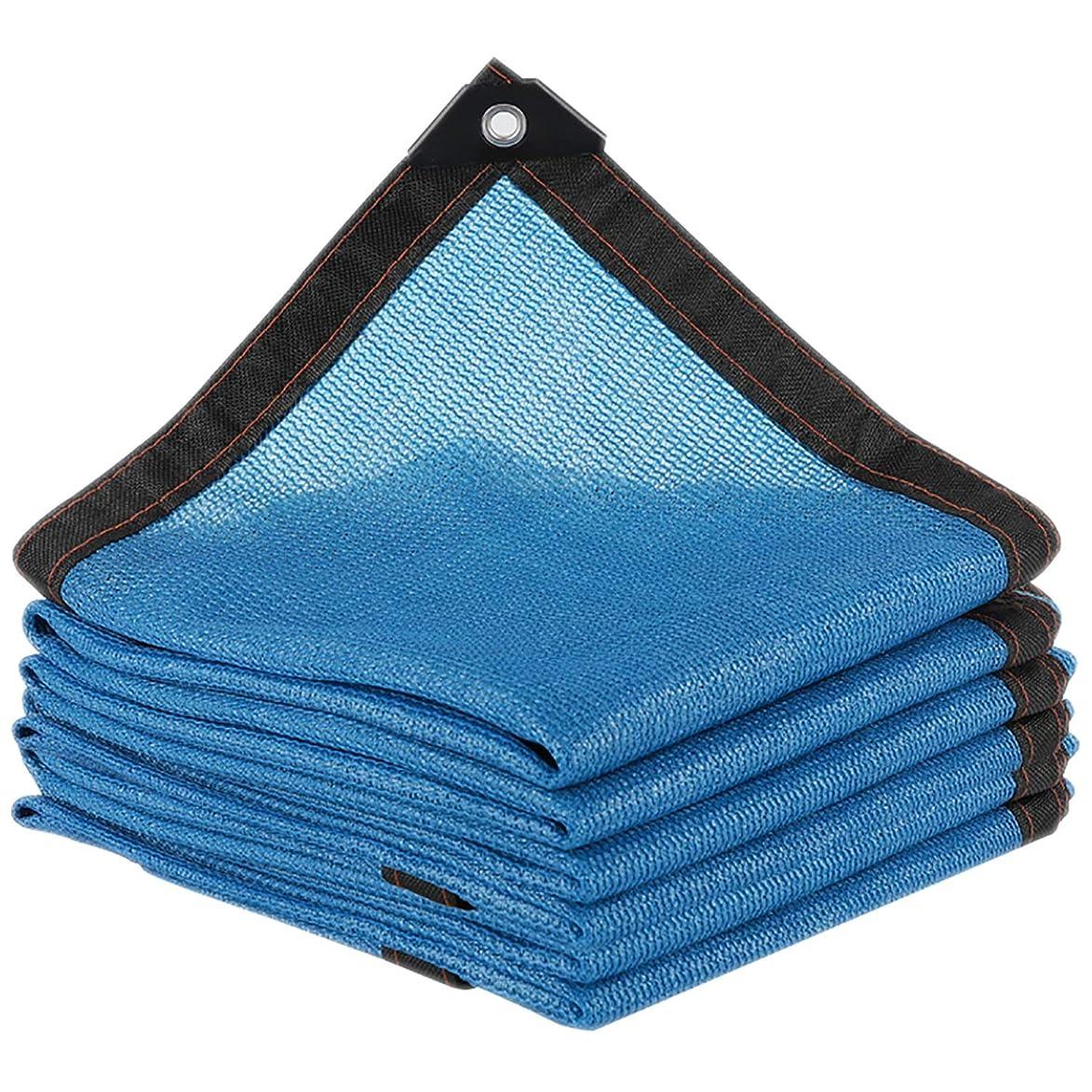 謎めいたデュアルライターサンシェード?シェルター グロメット付き85%日焼け止めシェード布、パーゴラキャノピー日焼け止めブロック生地軽量紫外線耐性ネット用ガーデンカバー (Color : Blue, Size : 19.8x23.1ft/6x7m)